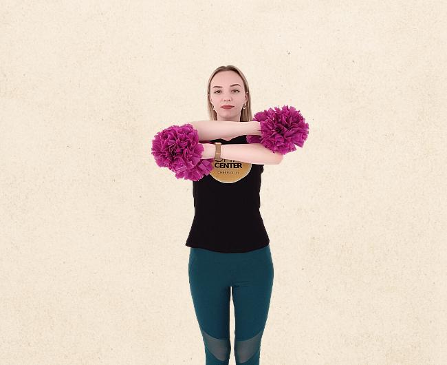 Базовые положения рук в чирлидинге: Джинни